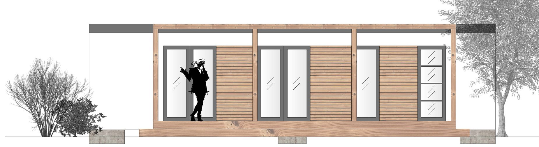 livingcon mobile wohncontainer aus holzbauweise. Black Bedroom Furniture Sets. Home Design Ideas